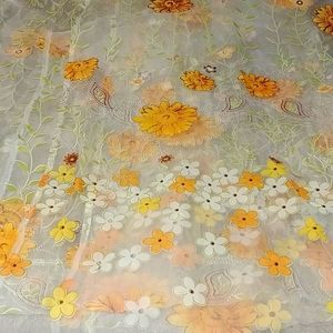 Retro Flower Sheer Curtains